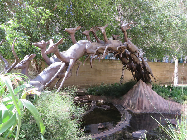 Mining District - Leaping Impala Sculpture
