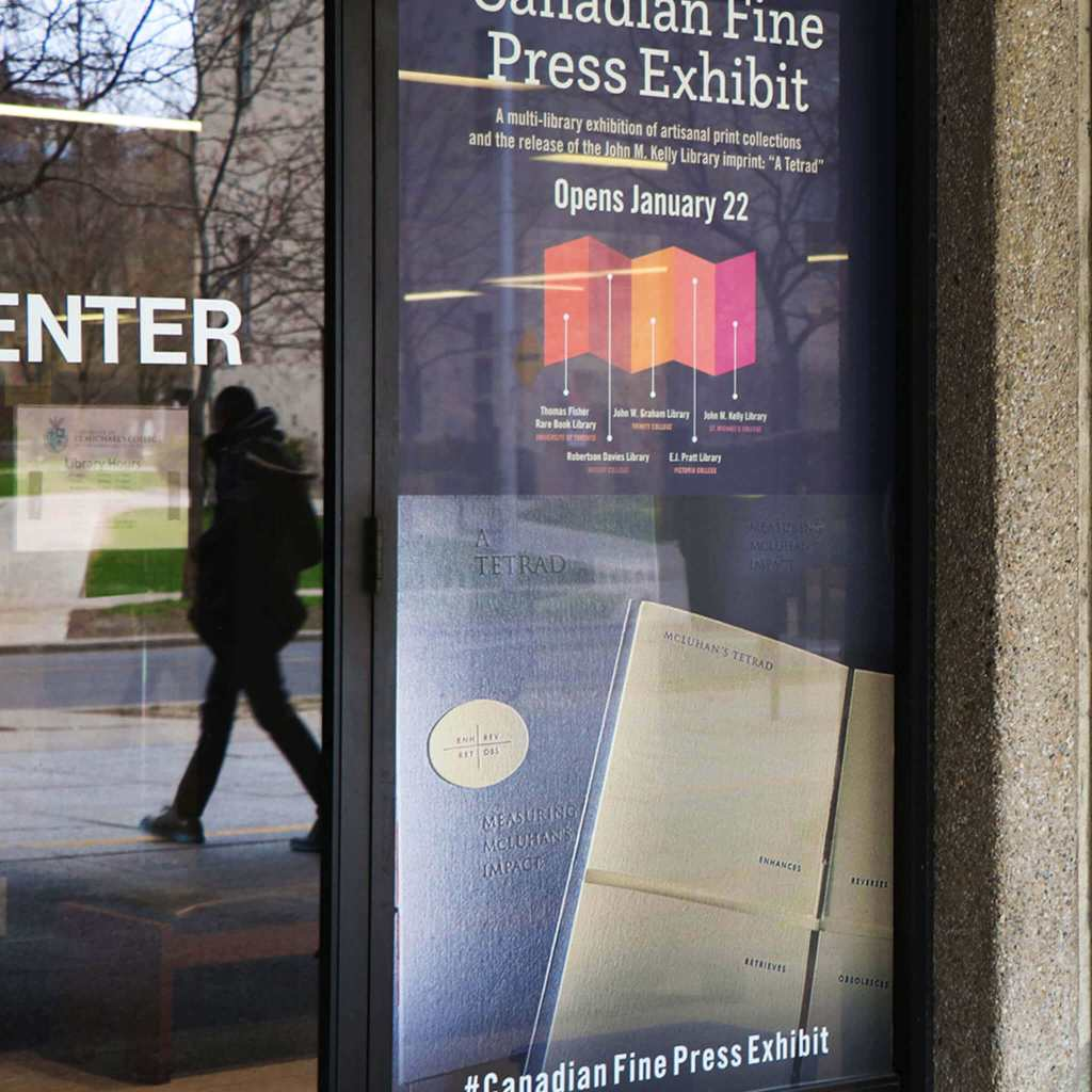 """Canadian Fine Press Exhibit: A Multi-library Exhibition of Artisanal Print Collections and the Launch of """"A Tetrad"""""""