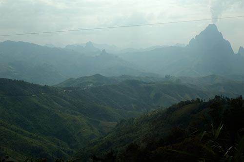 the mountainous road to Luang Prabang, Laos