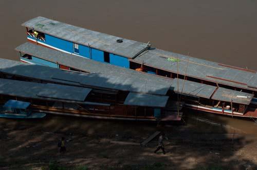 Mekong River boat, Luang Prabang, Laos