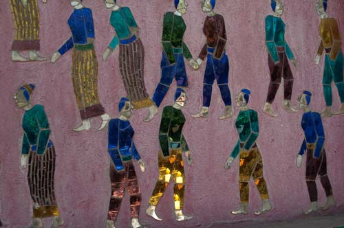 close-up of mosaic, Wat Xieng Thong, Luang Prabang, Laos