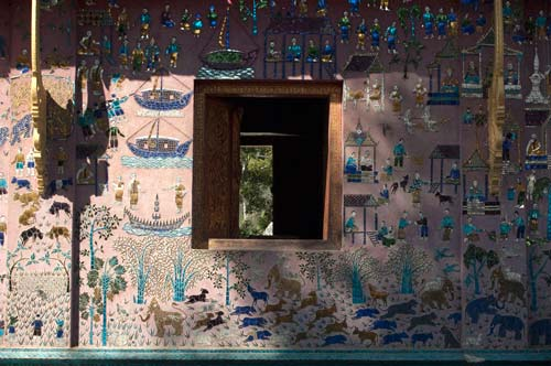 mosaic on haw, Wat Xieng Thong, Luang Prabang, Laos