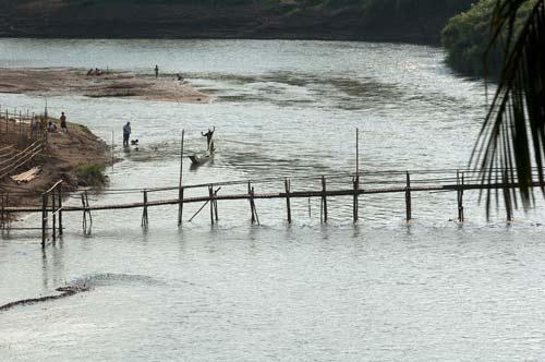 bridge across the Nam Khan River, Luang Prabang, Laos