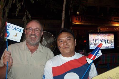 after the Seagames football match, Vientiane, Laos