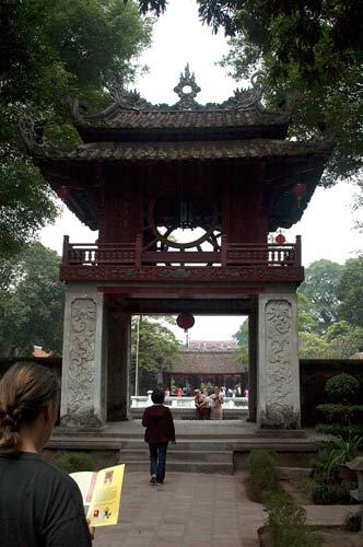 gate at Temple of Literature, Hanoi, Vietnam