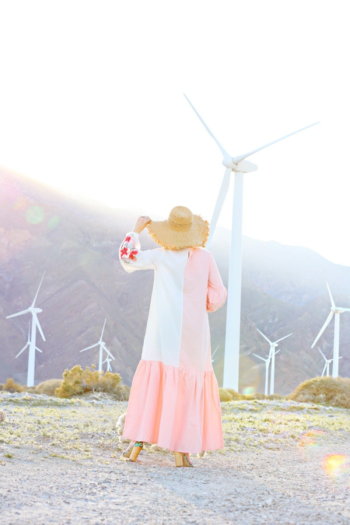 White and Pink Maxi Dress | Kelly Golightly