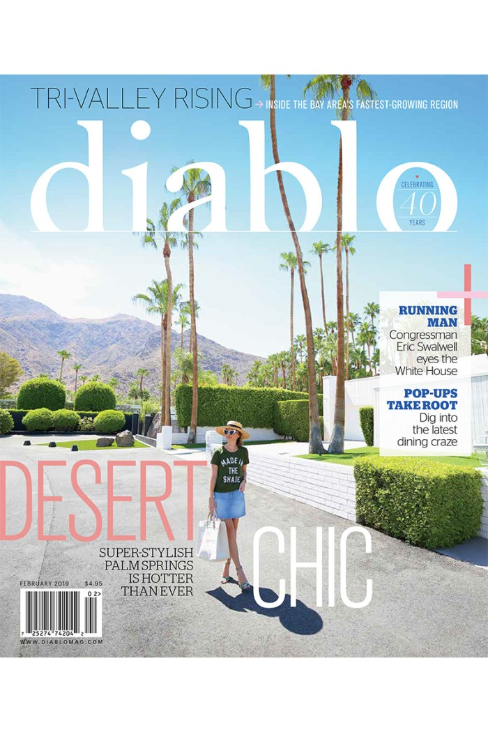 Kelly Golightly on the cover of Diablo Magazine