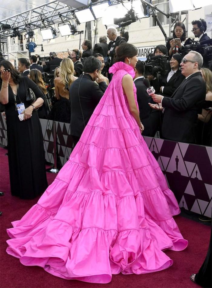 Gemma Chan Pink Oscars Dress | Kelly Golightly