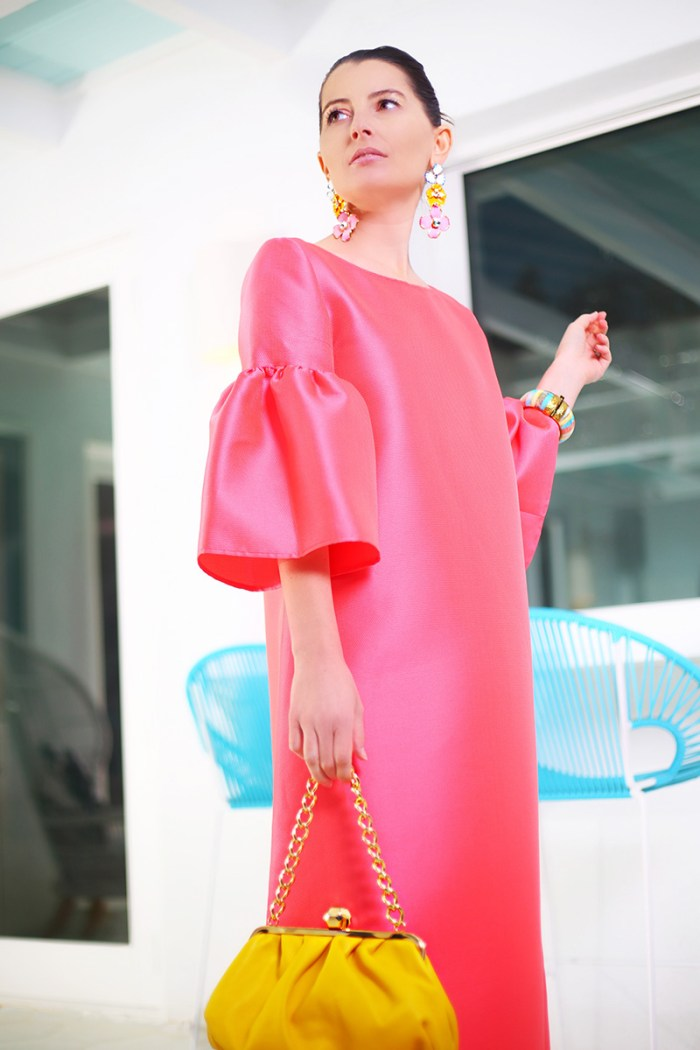 How To Wear Reem Acra Coral Gown | Kelly Golightly