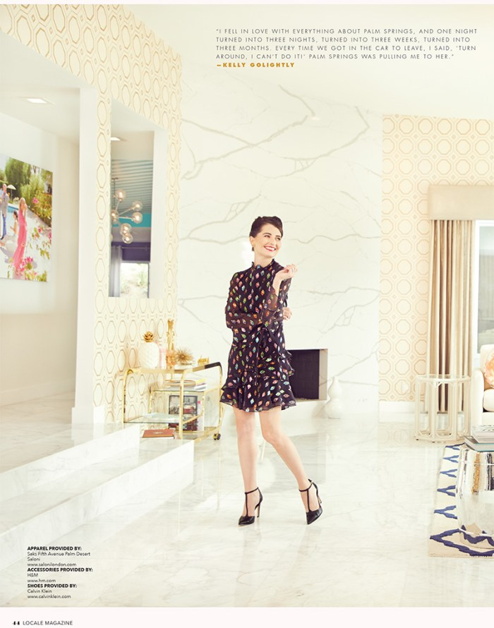 Kelly Golightly on the Cover of Locale Magazine Palm Springs   Villa Golightly