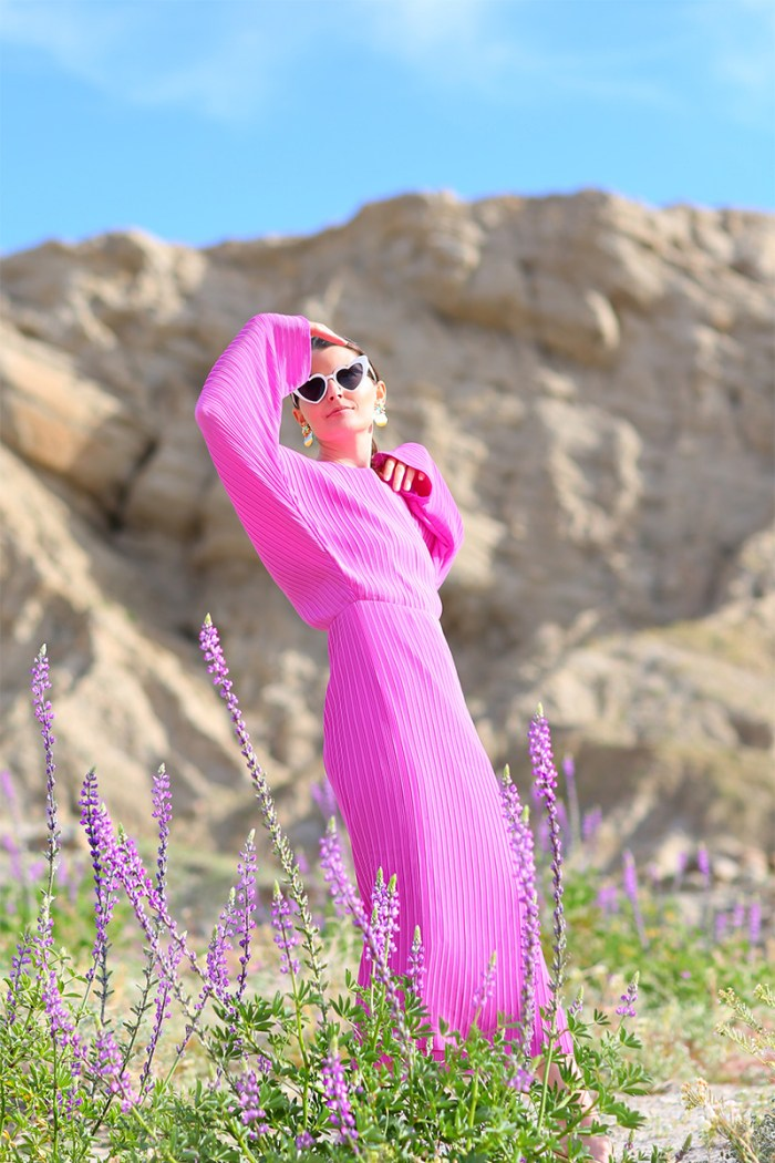 Solace London Batwing Dress in Anza-Borrego for the Super Bloom | Kelly Golightly