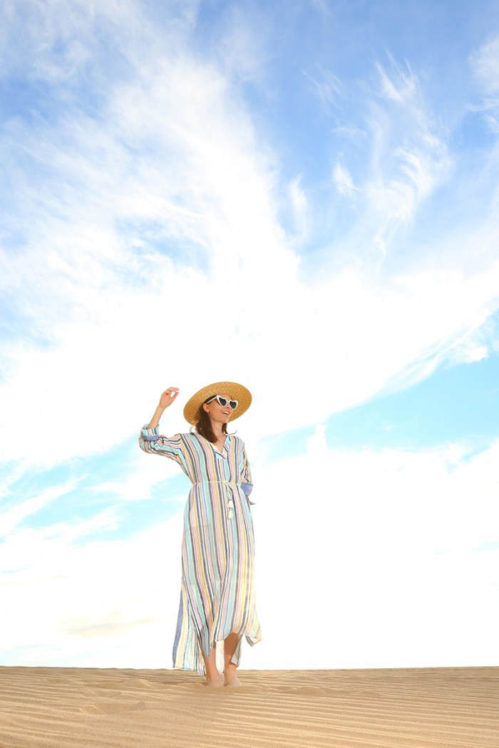 Splendid x Gray Malin Striped Caftan | Kelly Golightly