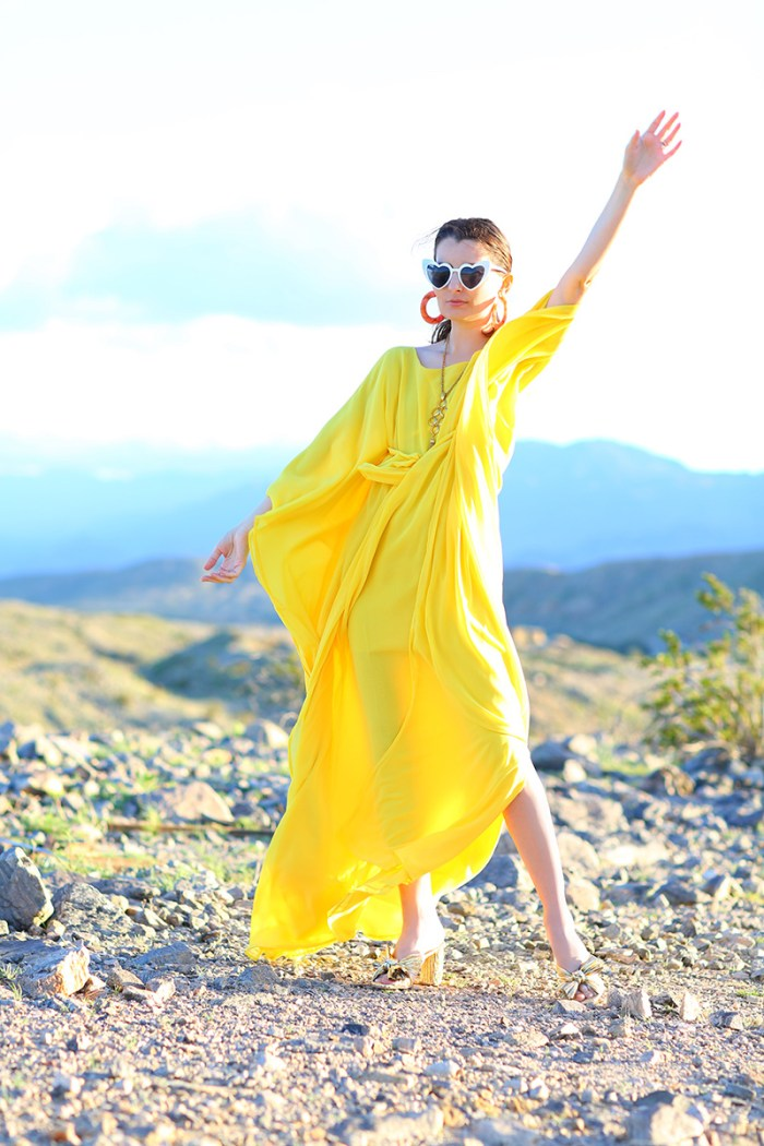 How To Wear a Yellow Caftan | Kelly Golightly