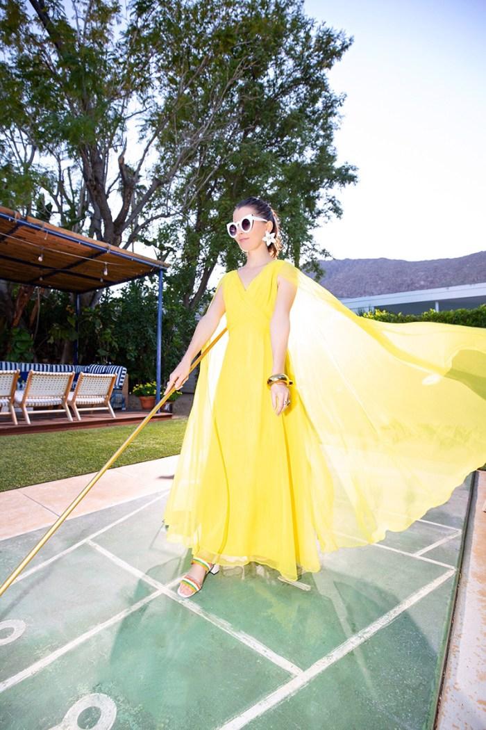 Yellow Cape Dress | Kelly Golightly