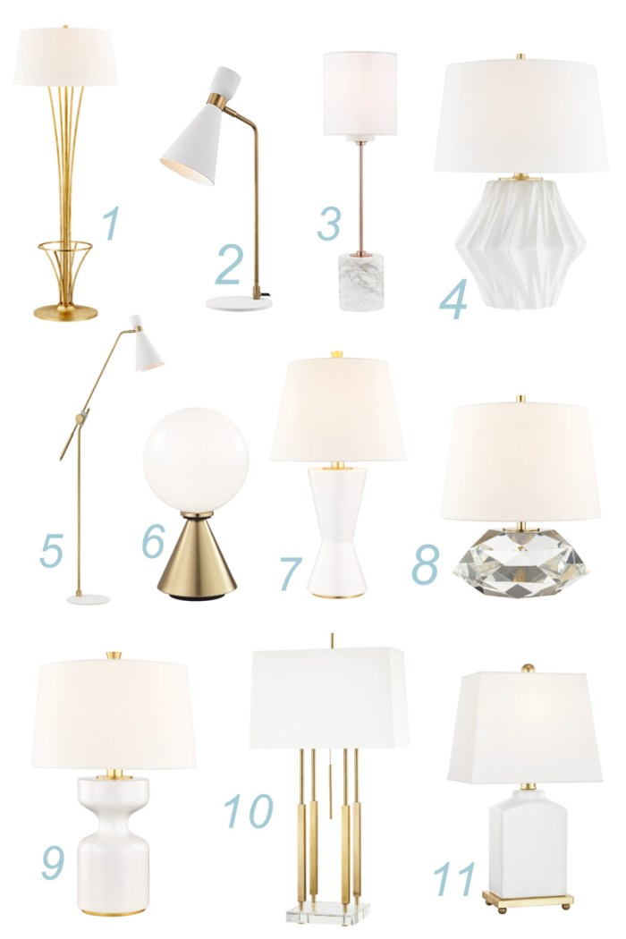 White & Gold Lamps Round Up | Kelly Golightly