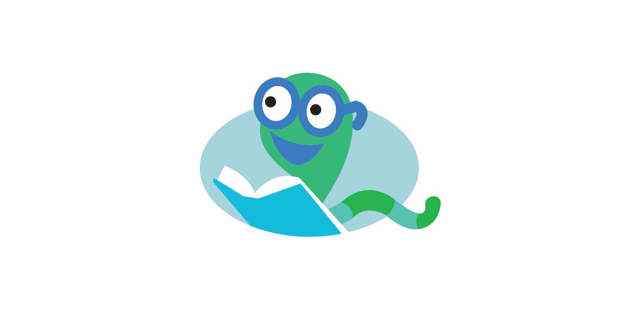 Bookworm Mascot