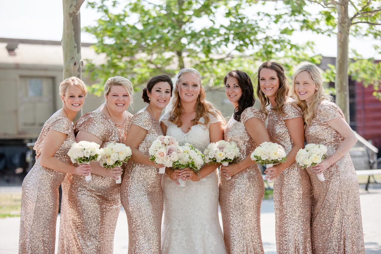 Rent The Runway Sequin Bridesmaid Gown