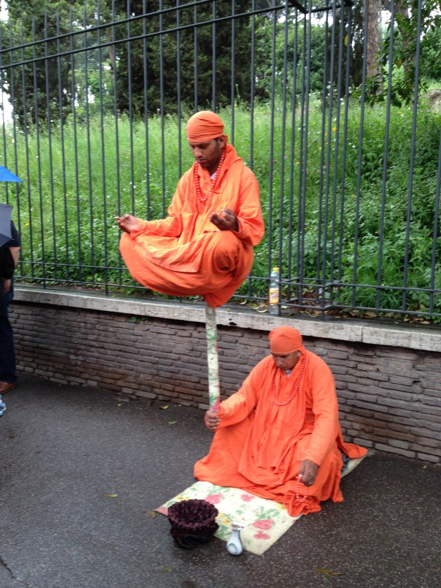 Meditators on Palatine Hill Rome, Italy