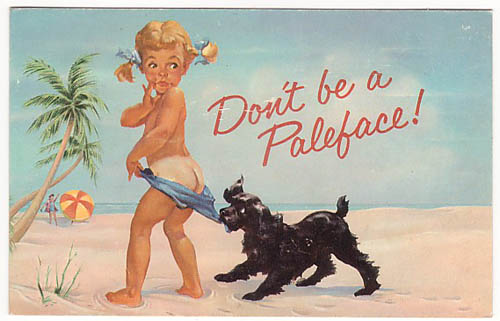 old ad for Coppertone Suntan Lotion