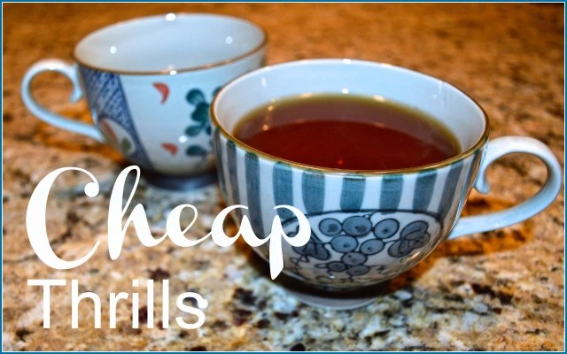 cups with tea