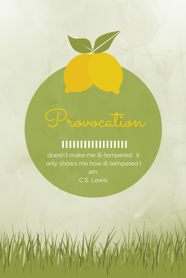 Graphic of a lemon and a C.S. Lewis quote