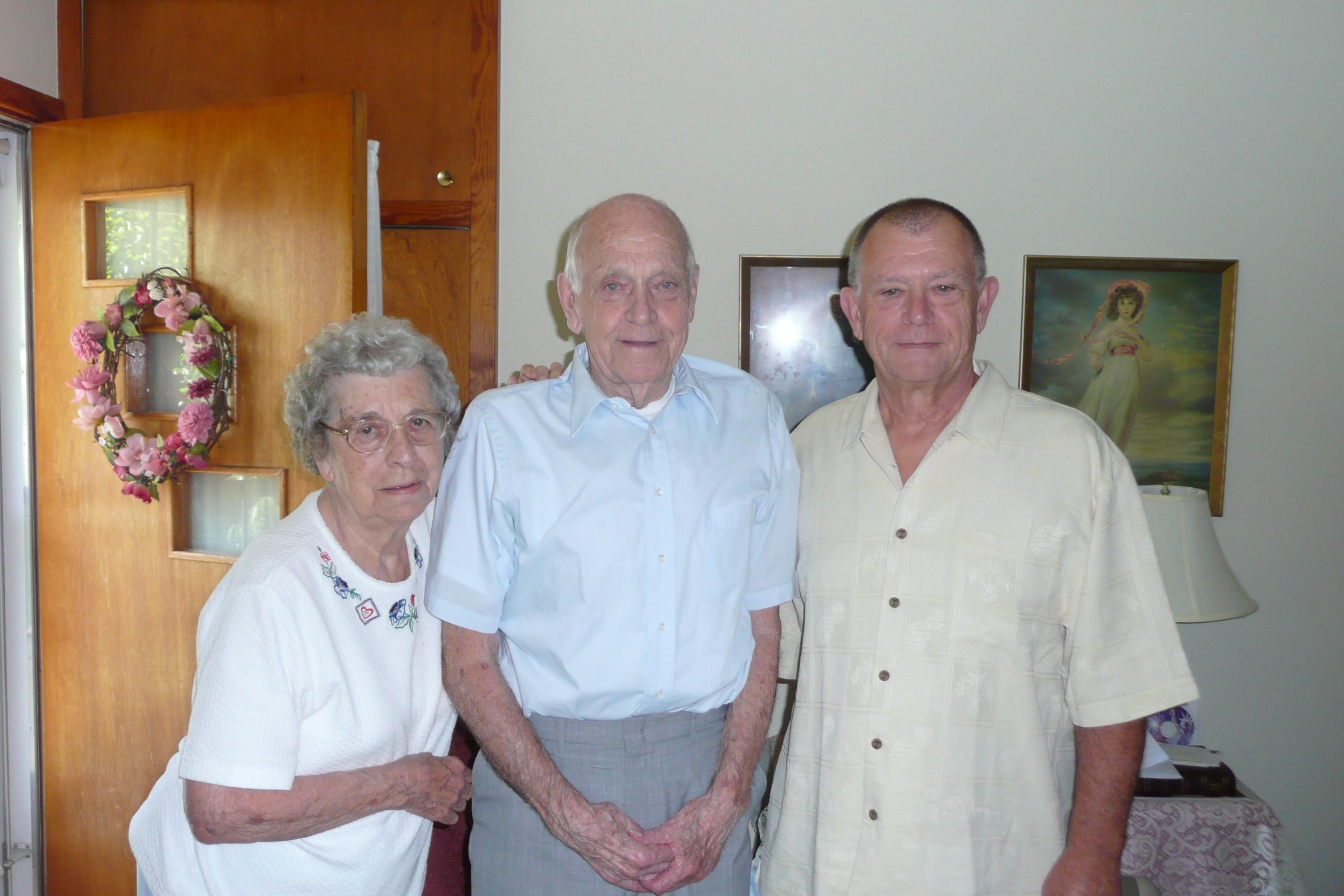 Grandma, Pepa, and Dad.  June 21, 2009