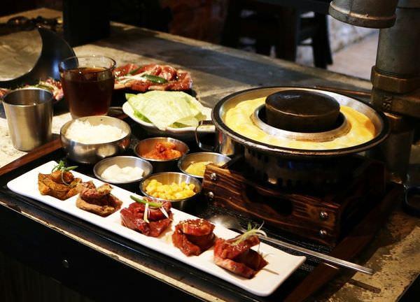 【台南中西區】 厲害的五色燒肉get『石堂-極和牛石頭燒』單人式韓式烤肉,小菜可以無限續,好過癮!