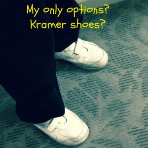 Velcro Kramer shoes http://kellylmckenzie.com/lessons-learned-shoe shopping/