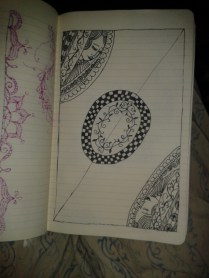 adrawingaday zentangle queen style female faces