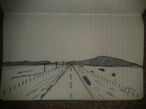 adrawingaday first point perspective ink sketch