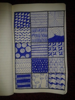 zentangle patterns moleskine adrawingaday sketch