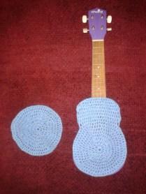 crocheting ukulele case DIY work in progress