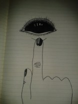 reflective pupil eye spooky drawing
