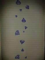 diamond rain gems blue ink sketch moleskine