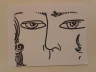 face curly hair art project drawing daily