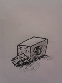 daily drawing half brick sketching exercise