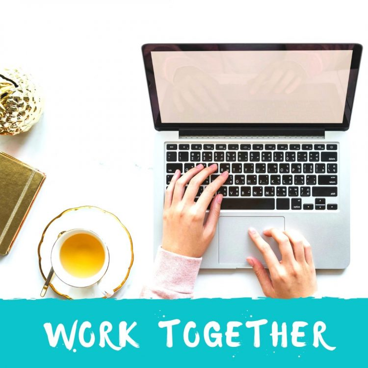 WORK TOGETHER BLOGGER BRAND