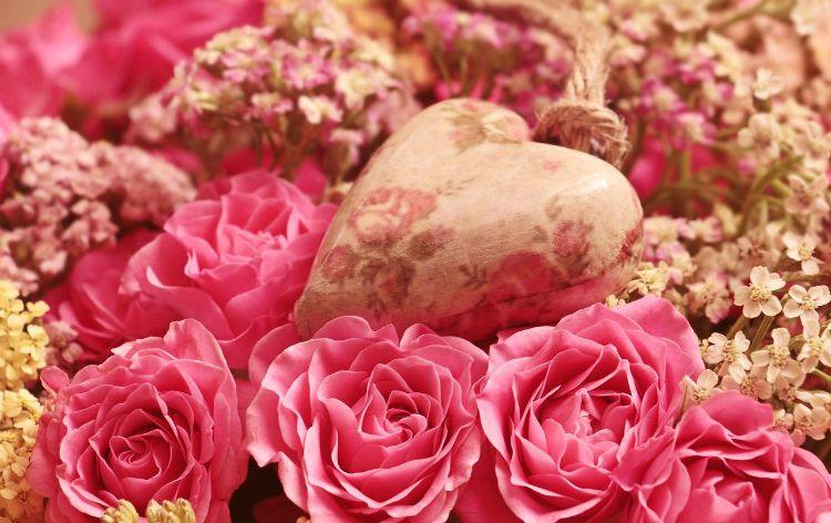 heart rose grateful