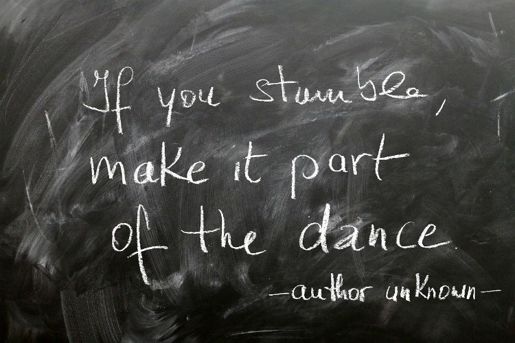 stumble make it part of your dance