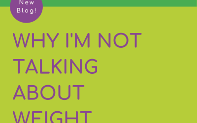 Why I'm not talking about weight anymore