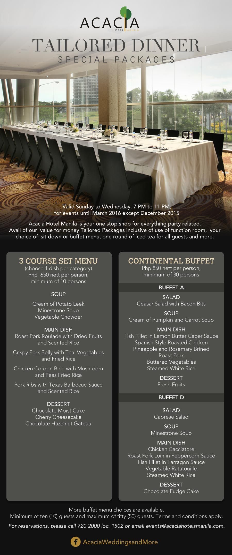 Events at Acacia Hotel Manila – Kelly Misa