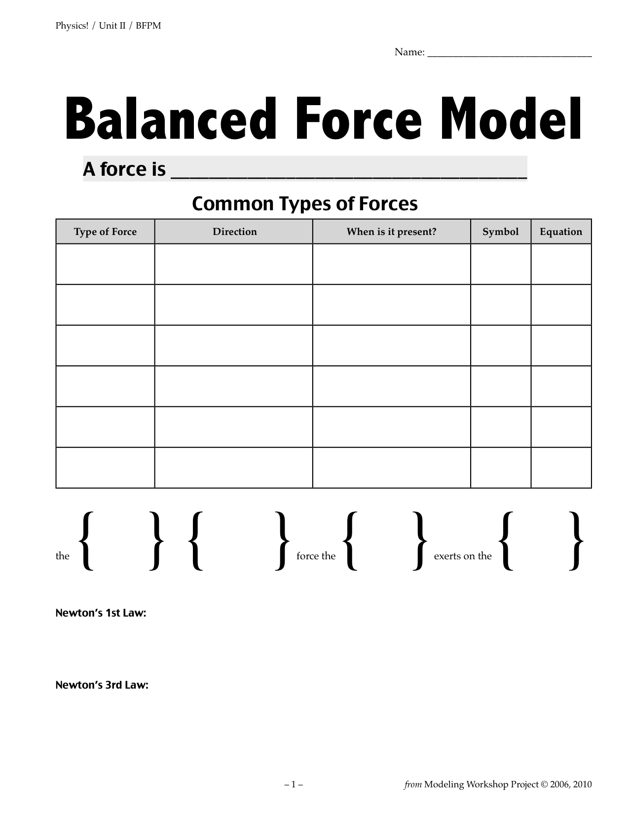 Physics Unit 02 Bfpm Packet Cover