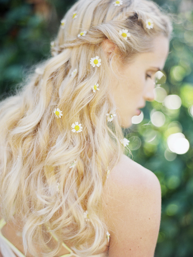 Editorial With Daisies In Her Hair Los Angeles Prop Stylist