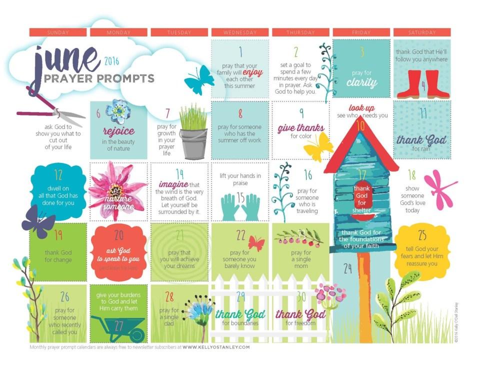 CONTEST: Let me design a prayer prompt calendar just for you
