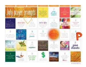 July 2015 prayer prompt preview