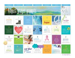 Aug 2015 prayer prompts