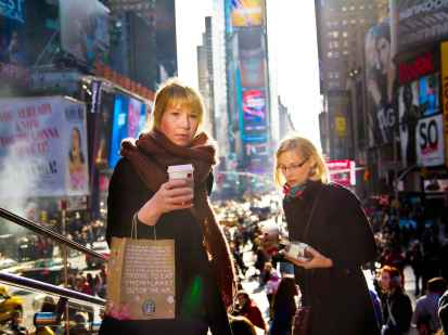 Women in Times Square