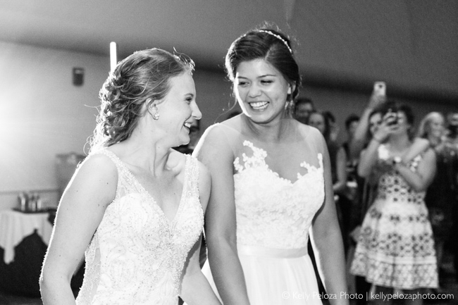The Grand March photography at Sophie and Jorie's wedding by Kelly Peloza Photo