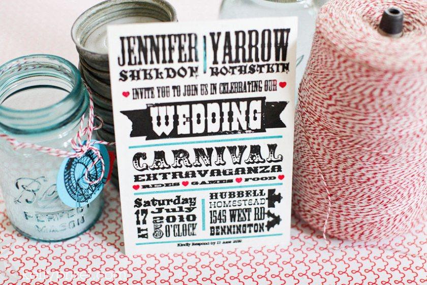 Diy Carnival Wedding Invitations
