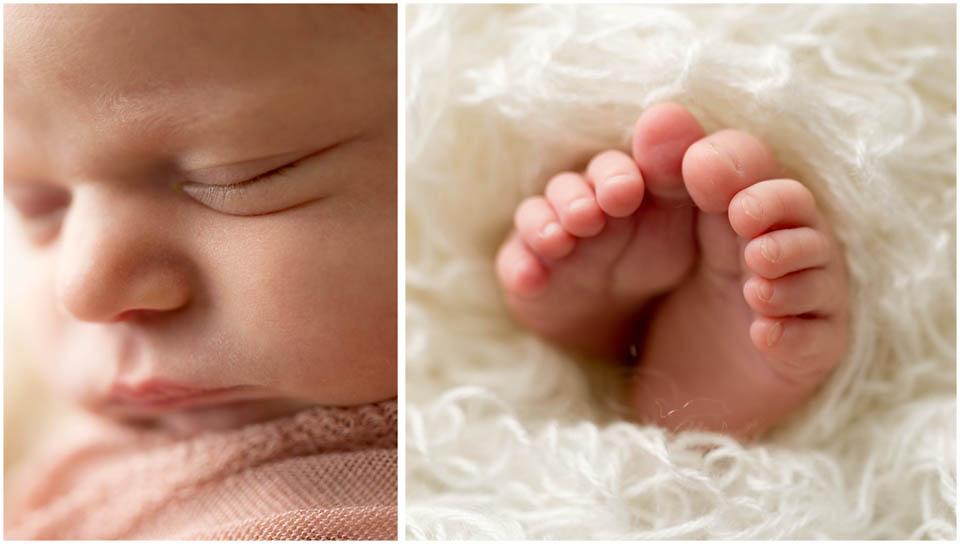 Newborn photography, little macro details